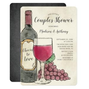 Cheers to Love Wine Couples Shower Invitation starting at 2.60