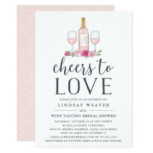 Cheers to Love | Wine Tasting Bridal Shower Invite starting at 2.51