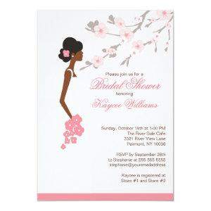 Cherry Blossom African American Bridal Shower Invitation starting at 2.51
