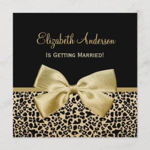 Chic Black and Gold Leopard Print Bridal Shower Invitation starting at 2.41