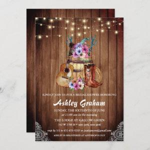 Chic Cowboy Boots Rustic Western Bridal Shower Invitation starting at 2.51