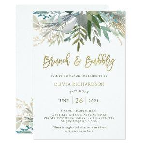 Chic Foliage | Brunch and Bubbly Invitation starting at 2.36