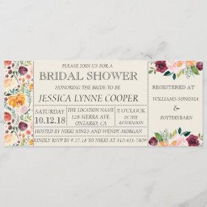 Chic Garden Party Floral Bridal Shower Invitation starting at 2.65