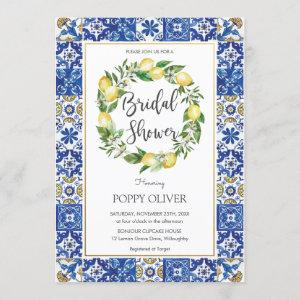 Chic Lemon Mediterranean Bridal Wedding Shower Invitation starting at 2.45