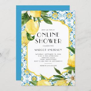 Chic Lemon Mediterranean Summer Online Shower Invitation starting at 2.40