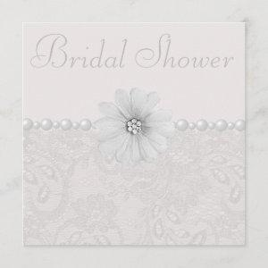 Chic Paisley Lace, Flowers & Pearls Bridal Shower starting at 2.51