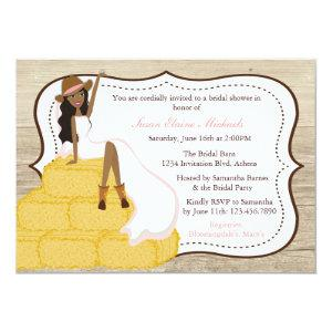 Chic Pink Cowgirl Country Bride Bridal Shower Invitation starting at 2.51