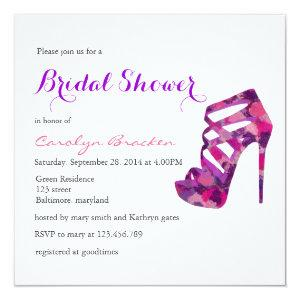 Chic Purple High Heels Bridal Shower Invite starting at 2.56
