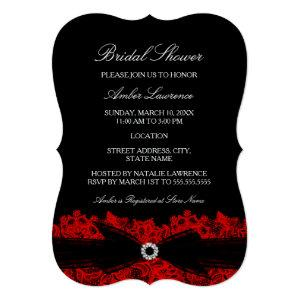 Chic Red Floral Lace Bridal Shower Invitation starting at 2.91
