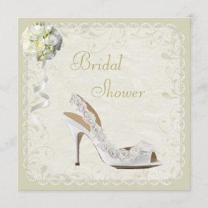 Chic Shoe & Bouquet Bridal Shower Invitation starting at 2.51