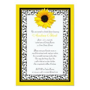Chic Sunflower Recipe Bridal Shower Invitation starting at 2.66