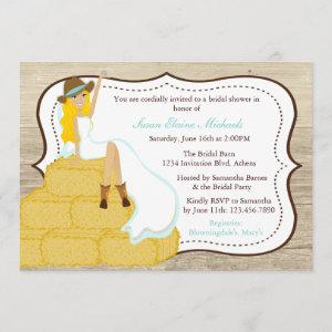 Chic Teal Cowgirl Country Bride Bridal Shower Invitation starting at 2.51