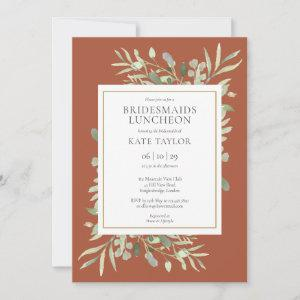 Chic Terracotta Gold Greenery Bridesmaids Luncheon starting at 2.51