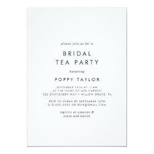 Chic Typography Bridal Tea Party Invitation starting at 2.51