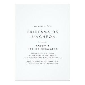 Chic Typography Bridesmaids Luncheon Invitation starting at 2.51