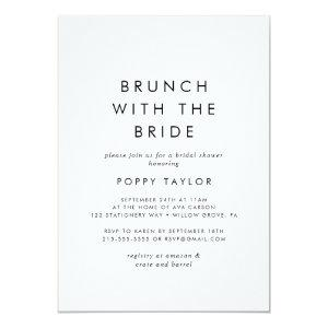 Chic Typography Brunch with the Bride Invitation starting at 2.51