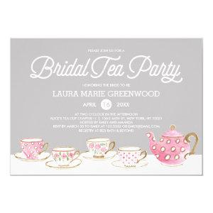 Chic Watercolor Bridal Tea Party Bridal Shower Invitation starting at 2.40