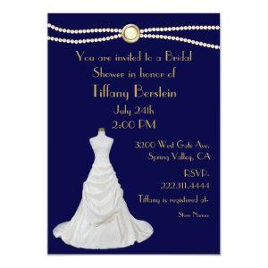 Chic Wedding Dress Bridal Shower Invitation starting at 2.66