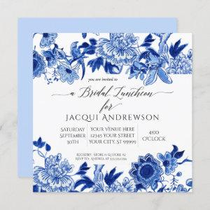 Chinoiserie Bird Blue White Floral Bridal Luncheon Invitation starting at 2.30