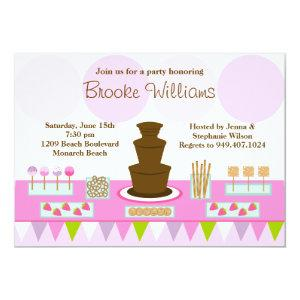 Chocolate Fountain Party Invitation starting at 3.24