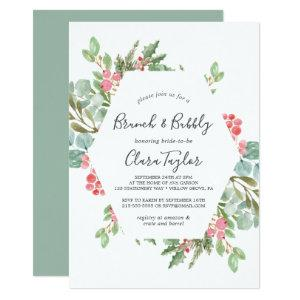Christmas Greenery & Red Berry Brunch and Bubbly Invitation starting at 2.51