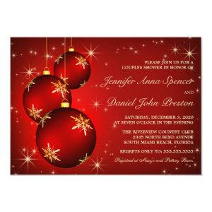 Christmas Theme Couples Shower Invitation starting at 2.20