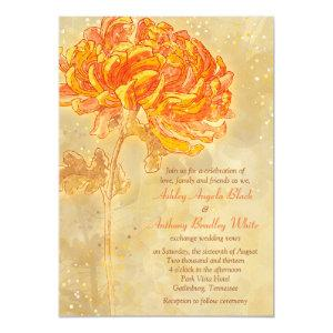 Chrysanthemum Orange Floral Wedding Invitation starting at 3.25