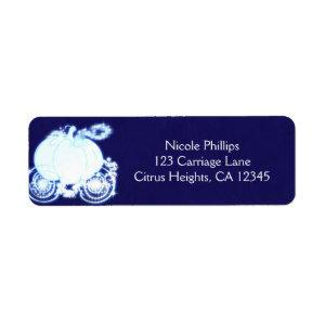 Cinderella Carriage Blue Wedding Party Invitation Label starting at 3.50