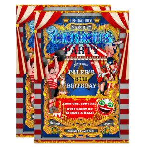 CIRCUS PARTY Big Top Tent Vintage Modern Birthday Invitation starting at 2.98