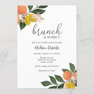 Citrus Brunch and Bubbly Bridal Shower Invitation starting at 2.50