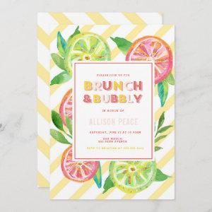 Citrus Brunch and Bubbly Shower Invitation starting at 2.51