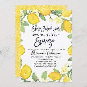 Citrus main squeeze bridal shower invitation starting at 2.40