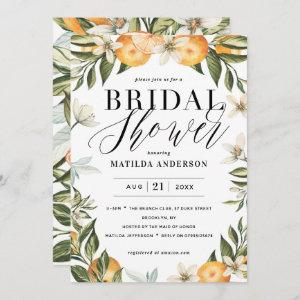 Citrus, orange + blossom bridal shower party starting at 2.46