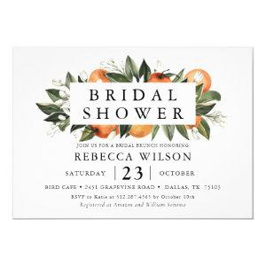 Citrus Theme Rustic Bridal Shower Invitation starting at 2.50