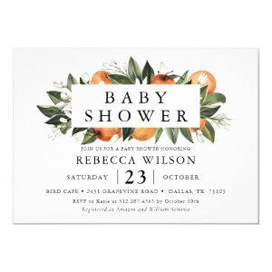 Citrus Theme Spring Baby Shower Invitation starting at 2.50