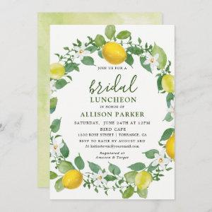 Citrus Watercolor Lemon Bridal Luncheon Invitation starting at 2.61