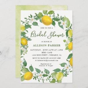Citrus Watercolor Lemon Themed Bridal Shower Invitation starting at 2.61