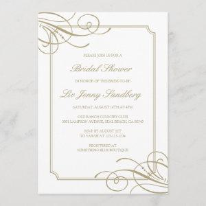 Classic Luxury Gold Frame Bridal Shower Invitation starting at 2.45