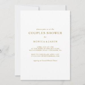 Classic Minimalist Gold Couples Shower Invitation starting at 2.51