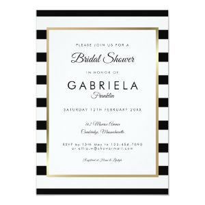 Classic Stripe Wedding | Bridal Shower Invitation starting at 2.51