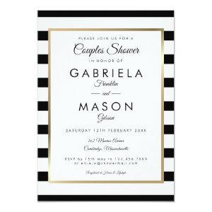 Classic Stripe Wedding | Couples Shower Invitation starting at 2.51
