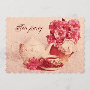 Classic victorian grunge tea party invitation starting at 2.86