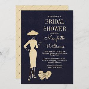 Classic Vintage 50's Fashion Bridal Shower Card starting at 2.66
