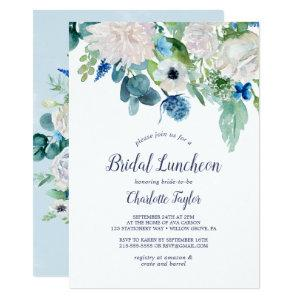Classic White Flowers Bridal Luncheon Invitation starting at 2.26
