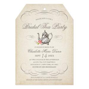 Classy Vintage Bridal Tea Party | Bridal Shower Invitation starting at 2.65