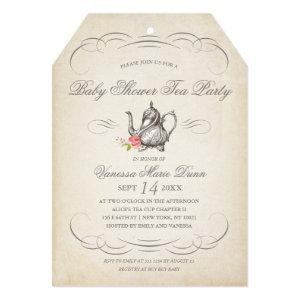Classy Vintage Tea Party | Baby Shower Invitation starting at 2.65