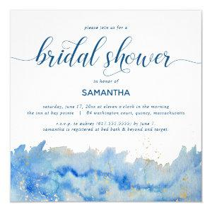 Coastal Elegance Watercolor Bridal Shower Invitation starting at 2.15