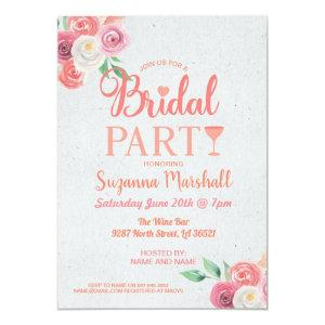 Cocktails Bridal Party Invite Pink Bachelorette starting at 2.51