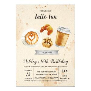 Coffee brunch party invitation starting at 2.45
