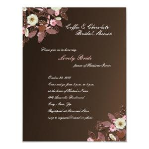 Coffee Chocolate Pink Brown Bridal Shower Invite starting at 2.31
